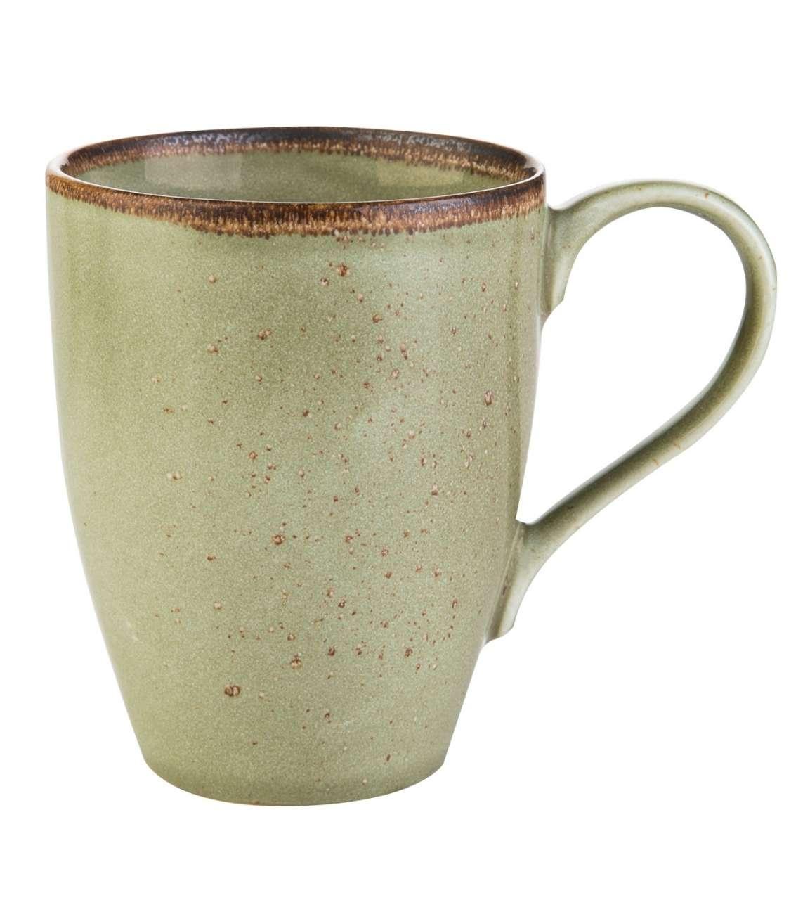 moebel-jack.de Kaffeebecher NATURE COLLECTION 4, Steinzeug, Grün, spülmaschinenfest