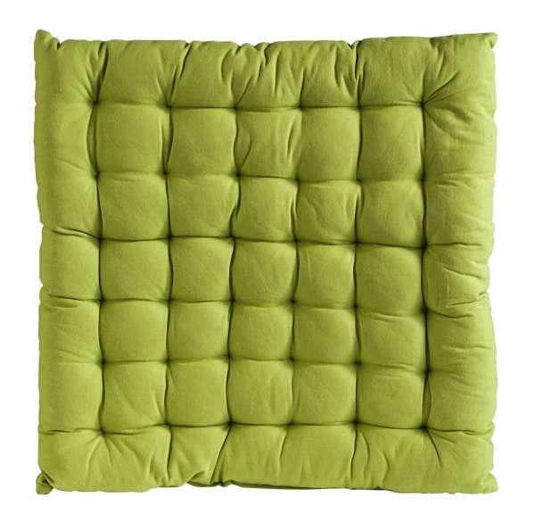 Sitzkissen BOBBY 3, grün, Baumwolle, 40x40x3 cm