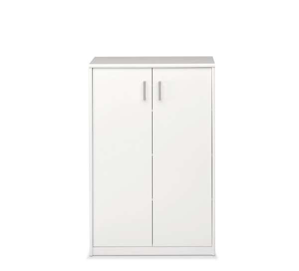 Kommode SARA 7, weiß, 2 Türen, 72x110x36 cm