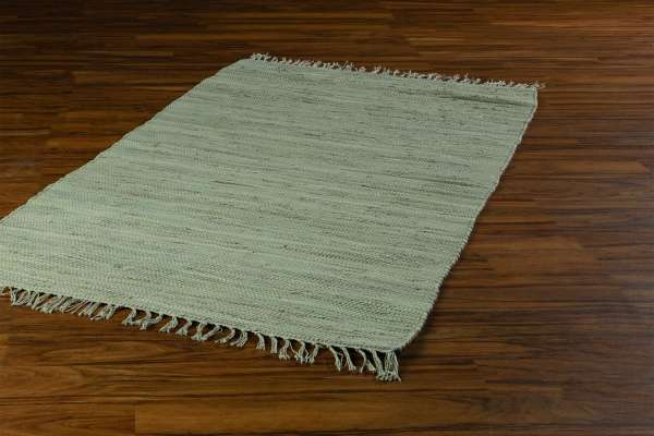 Teppich, Fleckerlteppich FRANKEN, B 80 x L 250 cm, Sand, Baumwolle