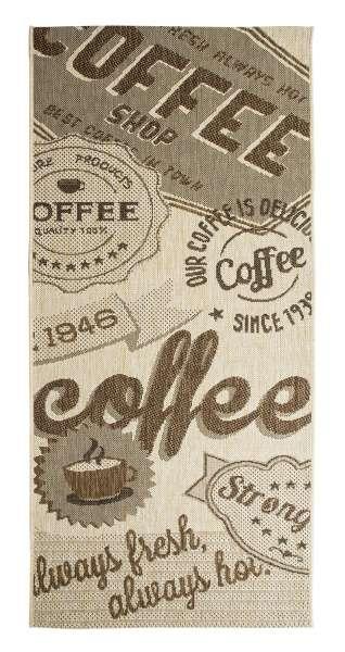 In- und Outdoorteppich COFFEE beige, 80x200 cm