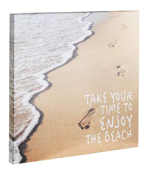 Wandbild Wanddeko Kunstdruck, 30x30 cm, Enjoy the Beach