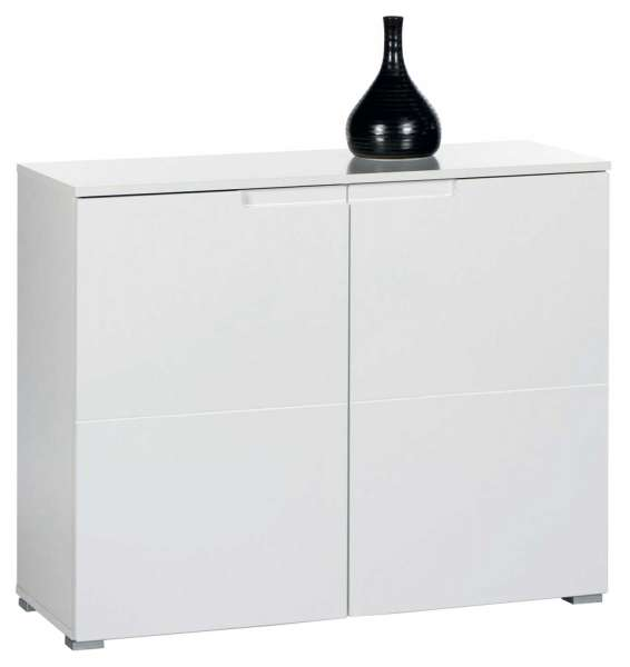 Kommode weiß hochglanz, 2 Türen, 100x80x40 cm