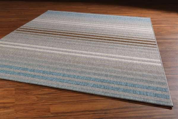 Teppich STAR, Creme/Blau/Braun, 120x170 cm