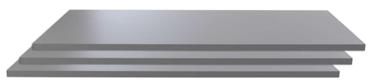 moebel-jack.de 3-er Set Einlegeboden, Schrankboden, Zubehör ZORA, grau, 108x42 cm