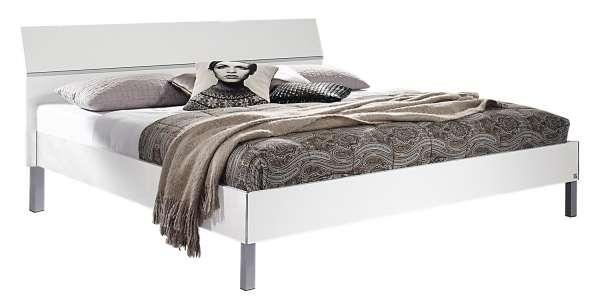 Doppelbettgestell LAGOS 2, weiß hochglanz, 180x200 cm