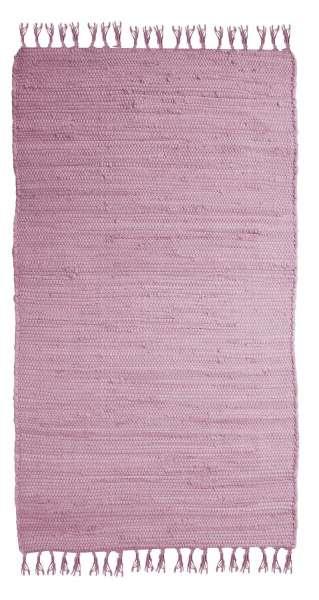 Teppich, Fleckerlteppich FRANKEN, B 80 x L 250 cm, Rosa, Baumwolle