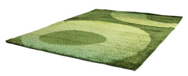 Modern Design Teppich LUPO grün, Grau,Weiß, Farbverlauf Grün, 70x140 cm