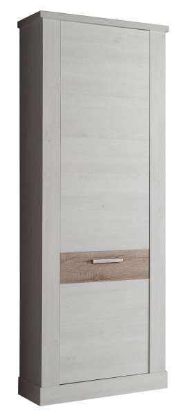 Garderobenschrank CALAIS 20, Schneeeiche, 71x199x35 cm
