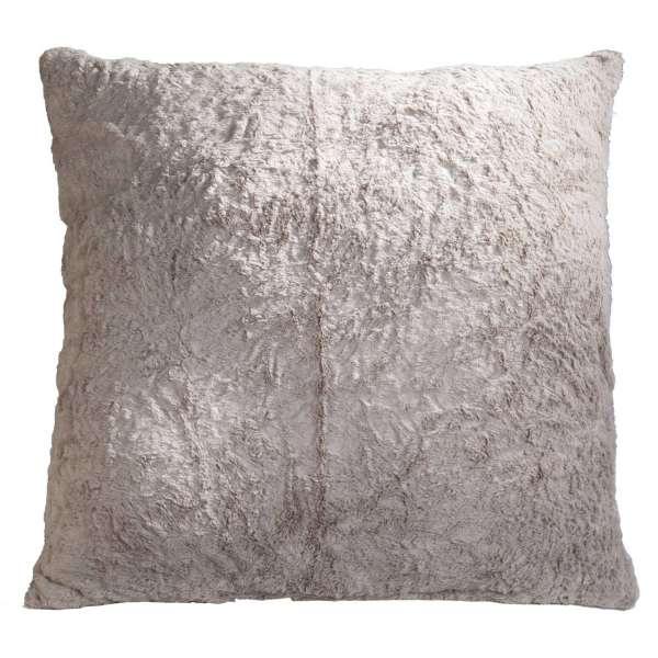 Kissen KUSCHEL 24, B 66 x H 66 cm, Stone, Felloptik