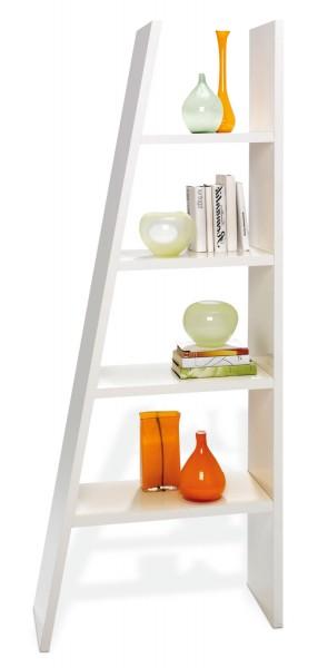 Bücherregal DENNIS 1, Weiß matt