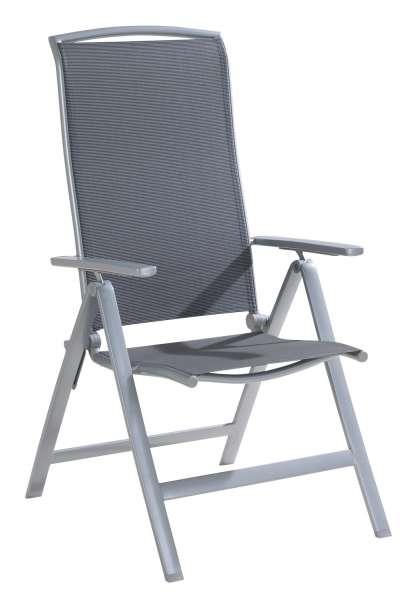 Stuhl, Gartenstuhl, Klappstuhl PIMPLE 1, Anthrazit-Silber, klappbar