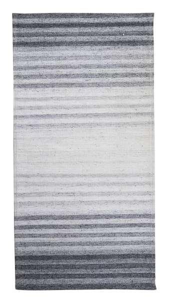 Teppich VENLO 3, Grau-Silber, Viscose,Filz, handgewebt (BxL) 65x135 cm