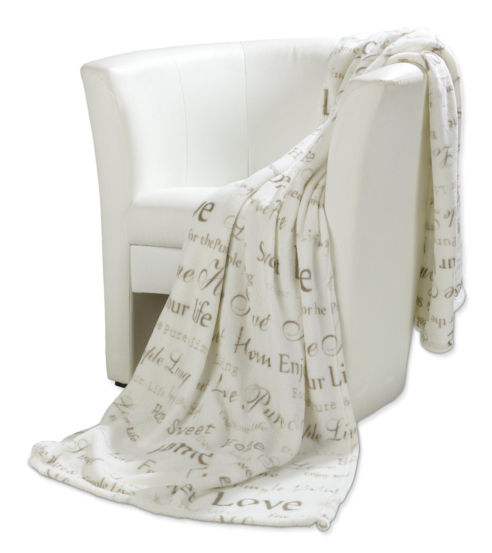 Decke aus fleece in wei beige vittorio 18 m bel jack for Schlafsofa vittorio