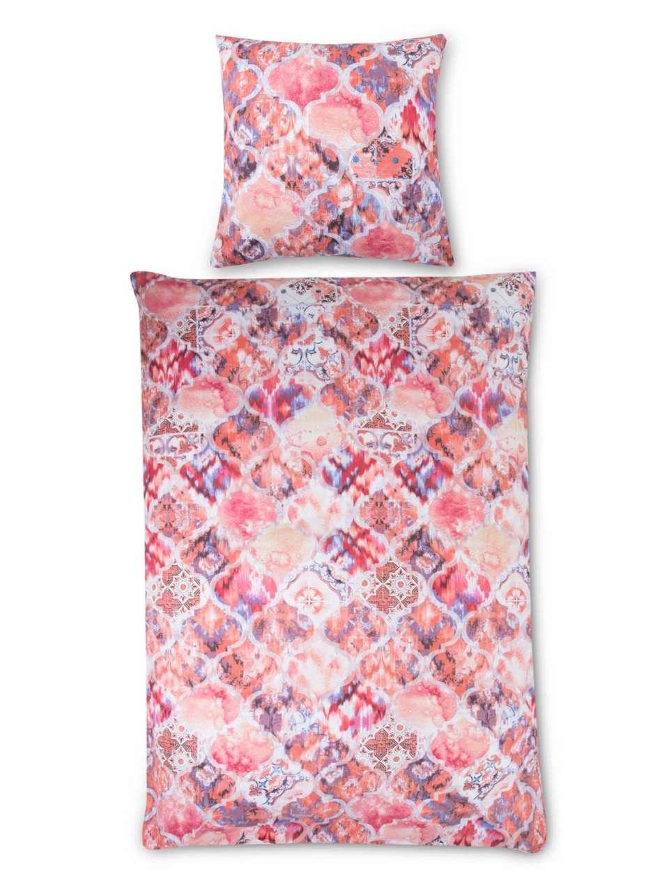 Schlafzimmer Bettwäsche RACHELA, B 135 x L 200 cm, Rosa Baumwolle Orient Muster