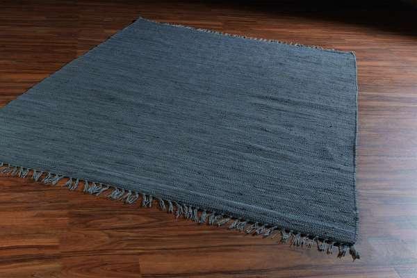 Teppich FRANKEN, B 140 x L 200 cm, Dunkelgrau, Baumwolle