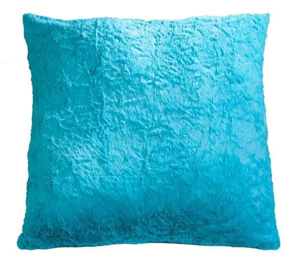 Kissen Sofakissen Dekokissen Azur, 66 x 66 cm, Felloptik