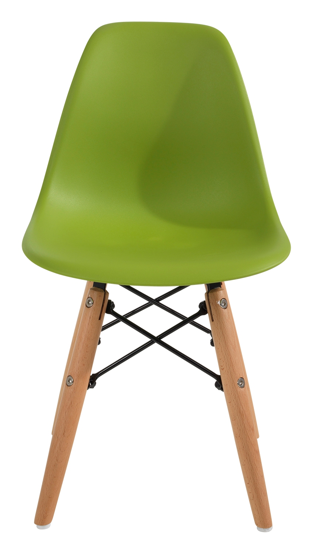 Kinderstuhl FINJAS, Buche, grün, Sitzhöhe 33 cm