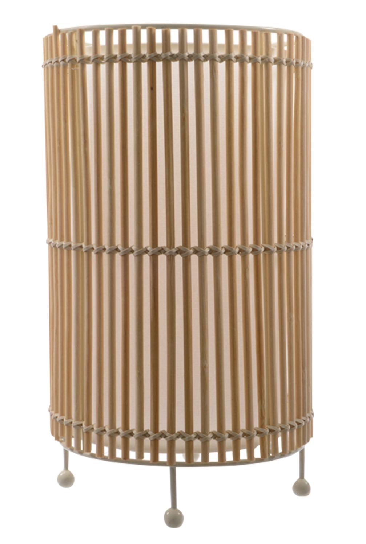 tischlampe randi 1 rund aus bambus ohne leuchtmittel. Black Bedroom Furniture Sets. Home Design Ideas