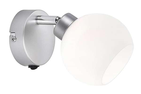 Lampe Wandlampe Wandleuchte LOTTA 6, Silberfarben, Stahl