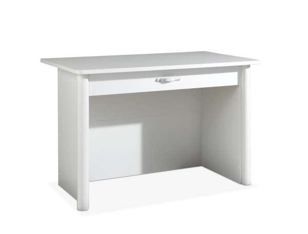Schreibtisch MAJA, Alpinweiß Dekor,  70x140 cm