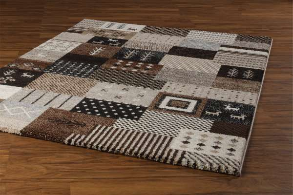 Teppich ETHNO 3, Braun-Beige, 80x150 cm