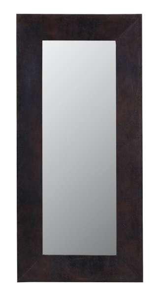 Spiegel CARDIFF 3, MDF, antikbraun, Lederlook, 66x140 cm
