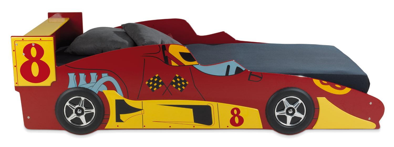 Kinderbettgestell SEBASTIAN, Design roter Rennwagen