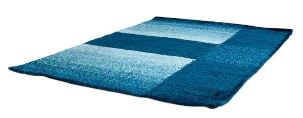 Modern Design Teppich AVENA blau, Grau,Weiß, Farbverlauf Blau, 70x140 cm