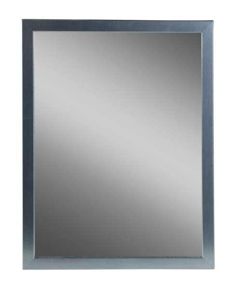 Spiegel B 32 x H 42 cm, Rahmen Edelstahloptik, inkl. Aufhänger