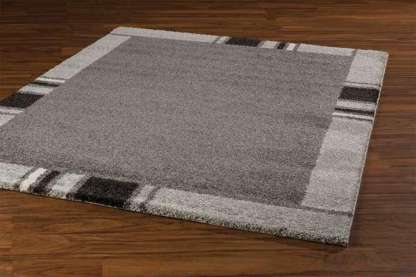 Teppich CASA grau 23, Weiß/Grau/Schwarz, 120x170 cm