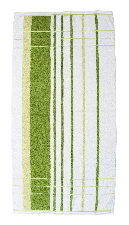 Duschtuch  ERDA 18, Dunkelgrün/Limone, 70x140 cm