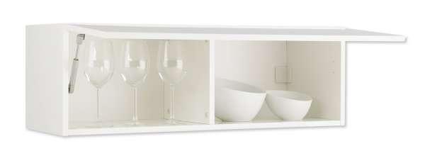 Hängeschrank MODUL 1, Weiß hochglanz, 1 Türe, 30x90x34 cm