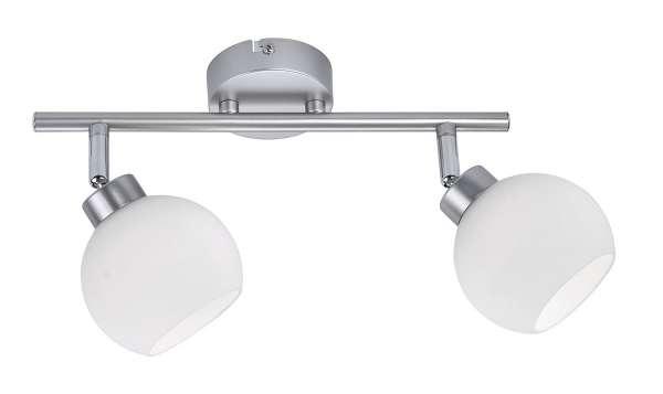Lampe Deckenleuchte LOTTA 4, L 44 cm, Silberfarben, Stahl