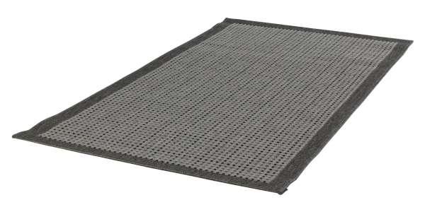 In- und Outdoorteppich DECORA Minikaro grau, 80x150 cm