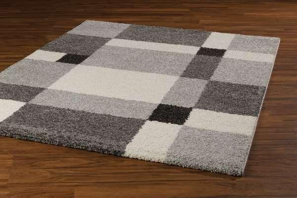 Teppich CASA grau 34, Weiß/Grau/Schwarz, 80x150 cm