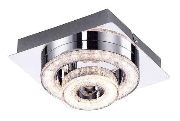 LED-Lampe Deckenleuchte TIM 2, Chromfarben, Stahl