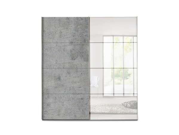 Schwebetürenschrank SYDNEY 14, graphit, mit Spiegel