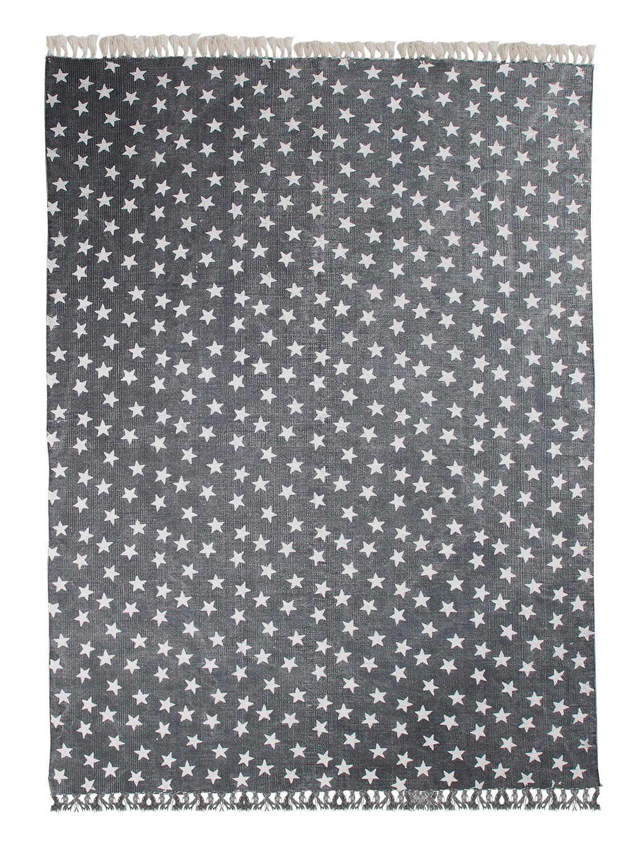 Vintageteppich MULTI STAR 1, Blau mit weißen Sternchen, 140x200 cm
