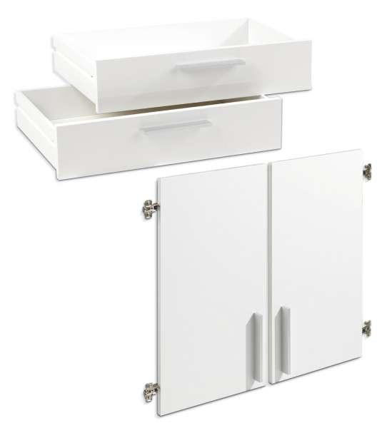 Türen-Schubkastenset Weiß Hochglanz