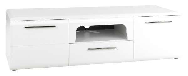 TV-Lowboard MADRANO 2, weiß hochglanz, 160 cm breit
