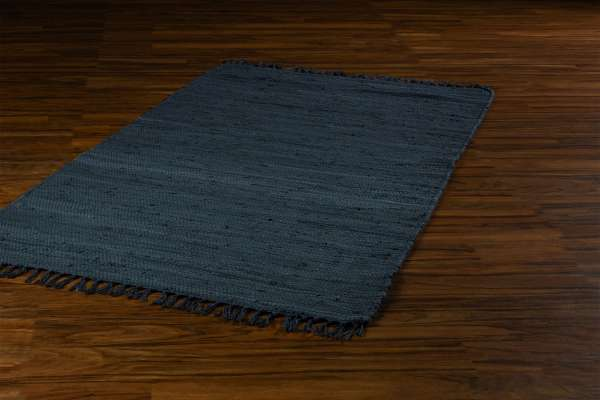 Teppich FRANKEN, B 80 x L 150 cm, Dunkelgrau, Baumwolle