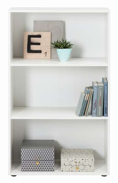 regal fiona 1 in wei 3 f cher 2 regalboden breite 70cm h he 117cm tiefe 30cm m bel jack. Black Bedroom Furniture Sets. Home Design Ideas