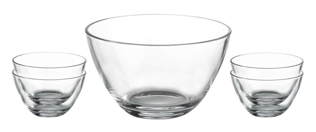 moebel-jack.de 5er-Set Schale Schüssel SELECTION 2, Glas klar, runde Form, 5-tlg.