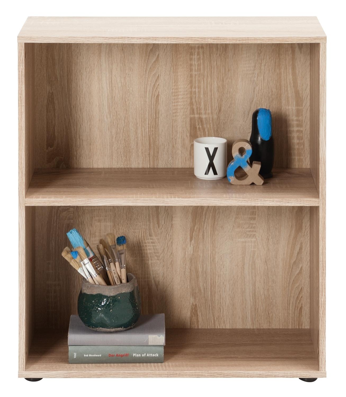 regal fiona 10 in eiche sonoma 2 f cher 1 regalboden breite 70cm h he 80cm tiefe 30cm. Black Bedroom Furniture Sets. Home Design Ideas