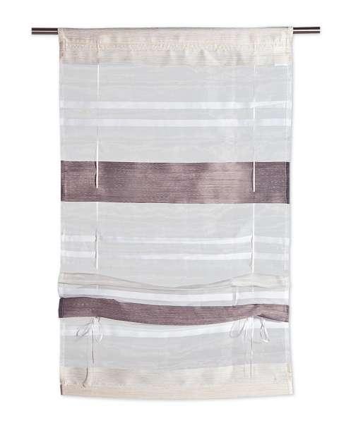 Raffrollo KIRA 6, Beige-Schlamm, 80x130 cm