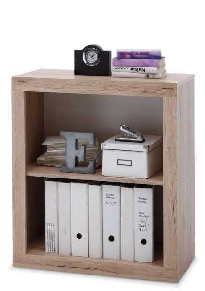 b roregal in eichedekor sanremo mit viel stauraum claudine 4 m bel jack. Black Bedroom Furniture Sets. Home Design Ideas