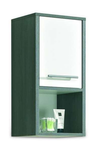 schmaler wandschrank in wei hochglanz graphitdekor orson 5 m bel jack. Black Bedroom Furniture Sets. Home Design Ideas