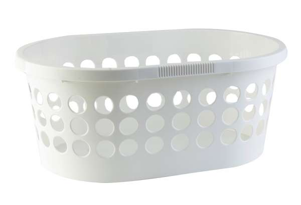 Wäschekorb weiß, 59x39x24 cm