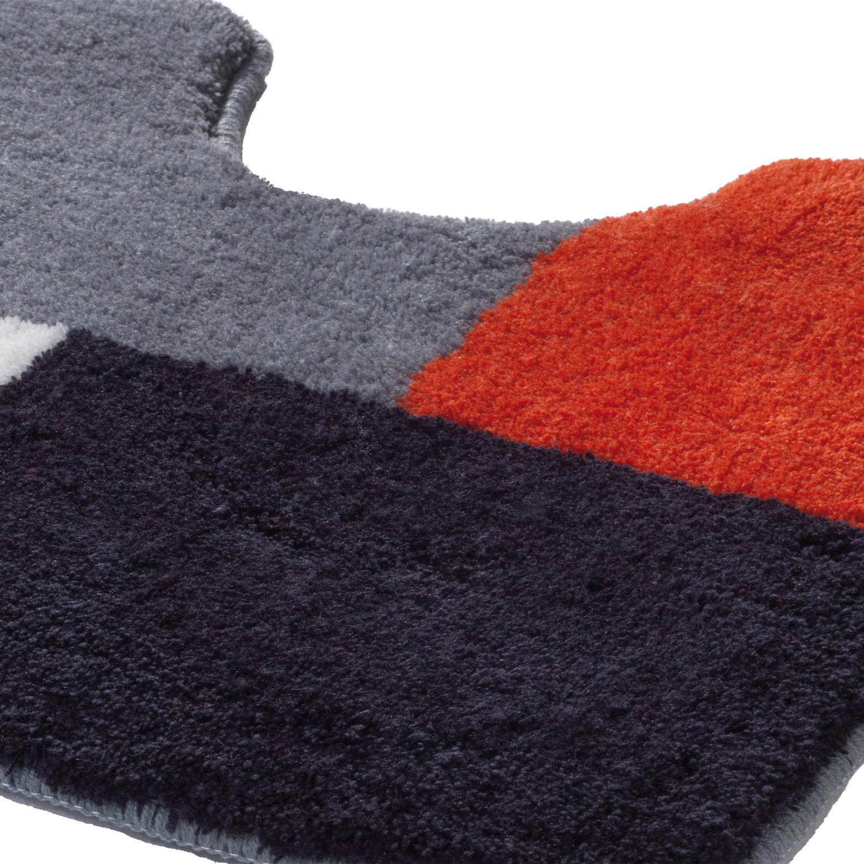 WC-Vorlage RIWENNA, Grau/Schwarz/Weiß/Rot, 50x55 cm